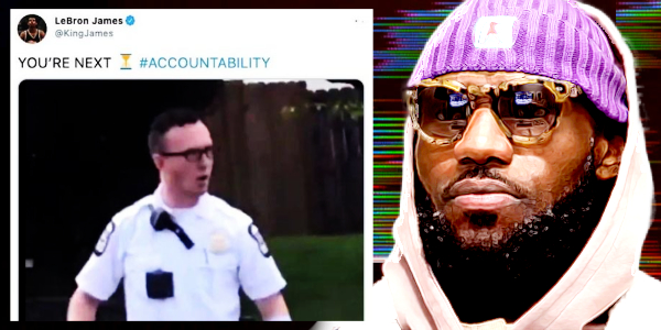 """Multi-Millionaire Race-Hustler, LeBron James, Tweets Image Of Columbus Cop, Threatens """"You're Next"""" – Deletes tweet 20 minutes later with no explanation…"""