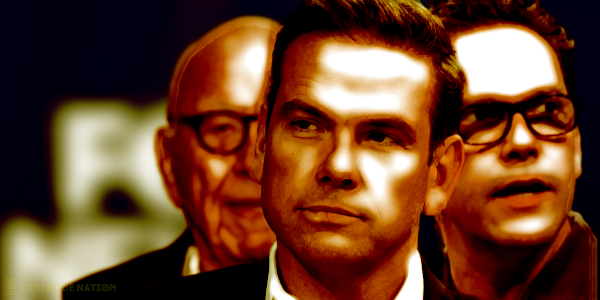 Liberal son James Murdoch announced he is stepping down from the board of News Corp. The more conservative son remains…
